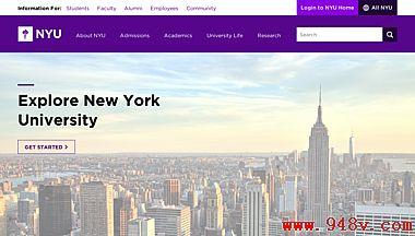 美国纽约大学官方网站