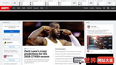 ESPN:领导世界体育