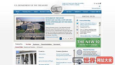 美国财政部官方网站
