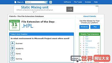 FileInfo的文件扩展名的数据库