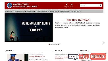 美国劳工部官网
