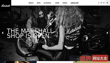 马歇尔放大吉他放大器为音乐而活