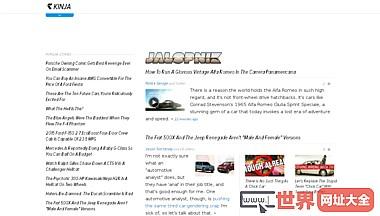 美国Jalopnik汽车评测博客