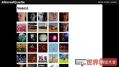 WebGL网页3D作品集平台