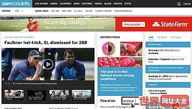 板球比赛的报道新闻ESPN cricinfo统计