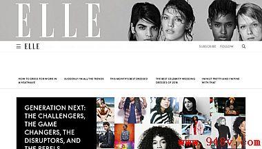 时尚美容风格和文化英国Elle杂志