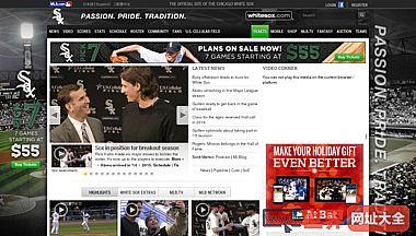 官方的芝加哥白袜队的网站MLB.com