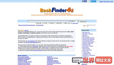 bookfinder4u比较图书的价格在130家书店Book