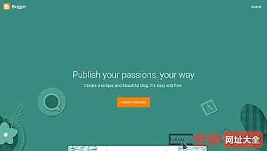 Blogger.com - 创建独一无二的精美博客轻松简单,且完全免费