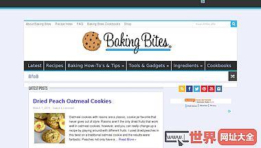 烘焙咬一个获奖的食物和烘烤博客