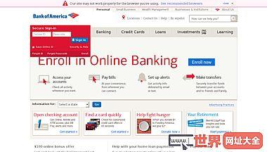 美国银行官方网站