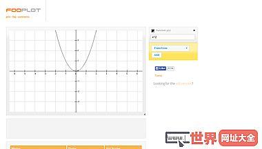 FooPlot 线上数学函数绘图器