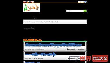 Font Yukle - 世界上最大的字体网站