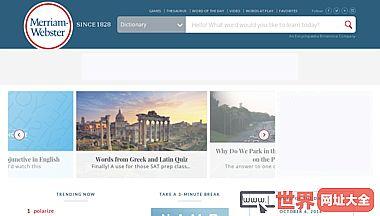 韦伯字典网站_韦伯字典官方网站 merriam-webster.com